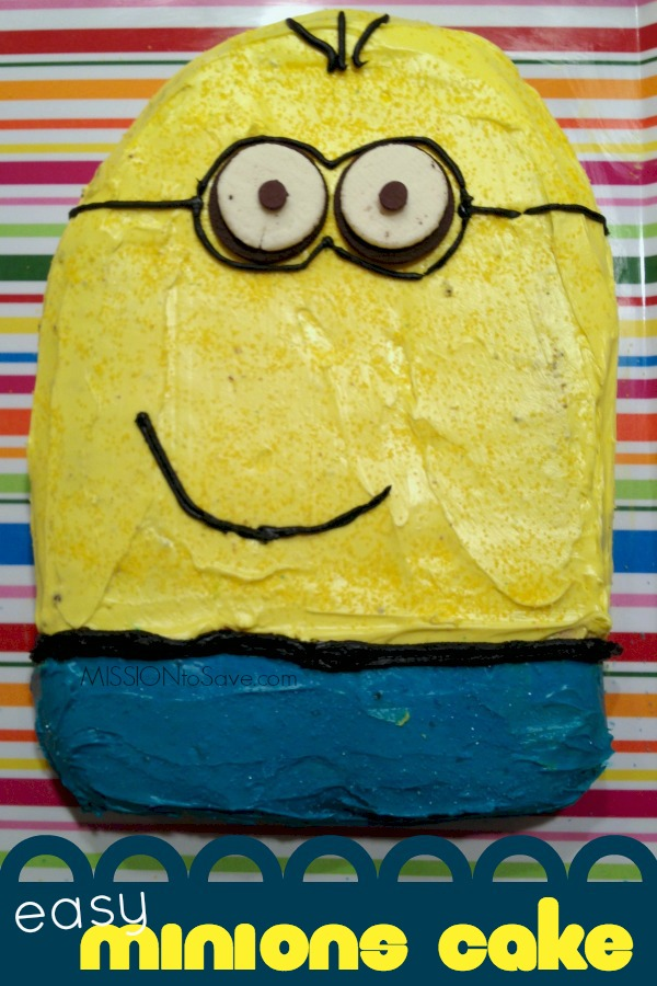 Easy Minions Cake Recipe Mission to Save
