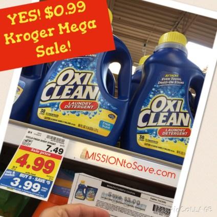 $0.99 OxiClean on Kroger Mega Sale
