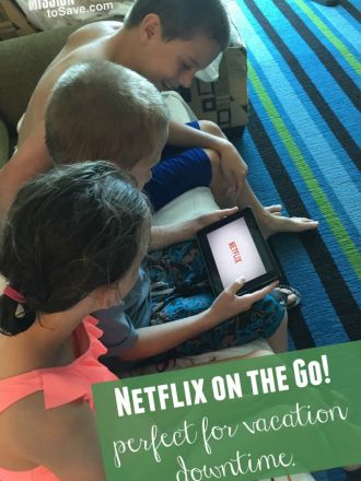 Netflix on the go- perfect for vacation downtime . #streamteam