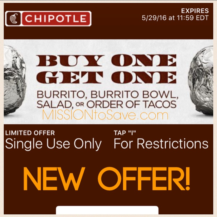 graphic about Chipotle Printable Coupons named Sizzling* Scarce Chipotle Coupon for Acquire Just one, Acquire A single Totally free (Words
