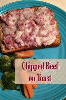 This Chipped Beef on Toast recipe is classic comfort food. This frugal meal has roots in the miliary and is sometimes called S.O.S. too!