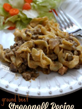 This easy ground beef stroganoff recipe is perfect for busy weeknight meals. SOmetimes called Mock Stroganoff or Homemade Hamburger Helper.