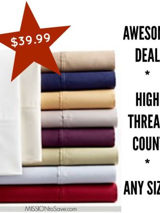 high thread count sheets deal