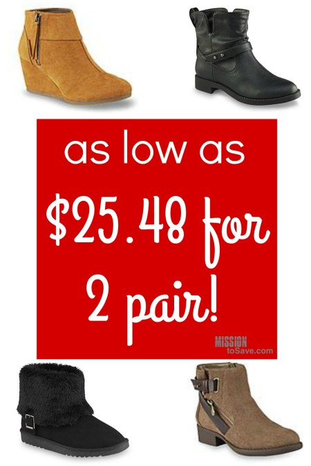 Kmart BOGO sale boots