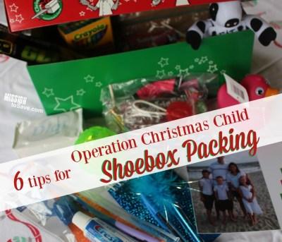 Tips for OCC Shoebox Packing