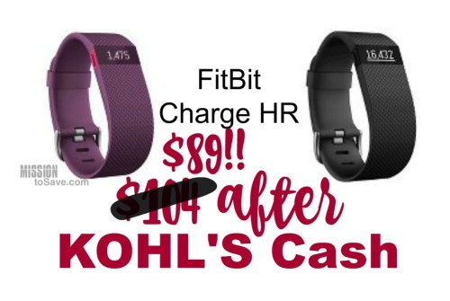 fitbit charge hr kohls