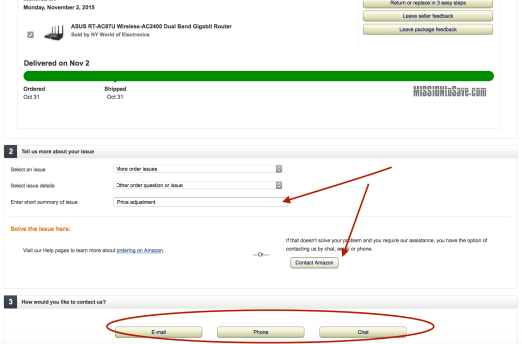 How to request an amazon price adjustment
