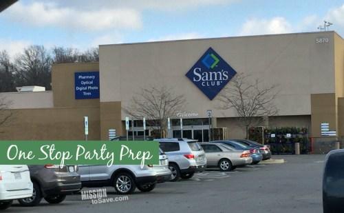 Sam's Club Party Prep