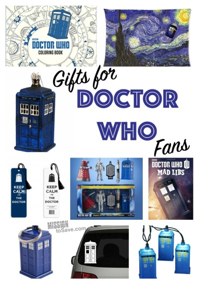 gifts for Doctor Who fans