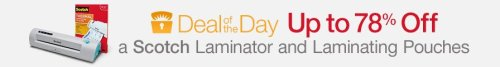scotch laminator deal of the day