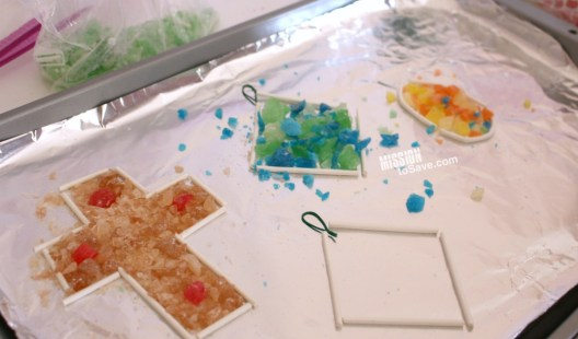 making Stained Glass Candy Suncatchers