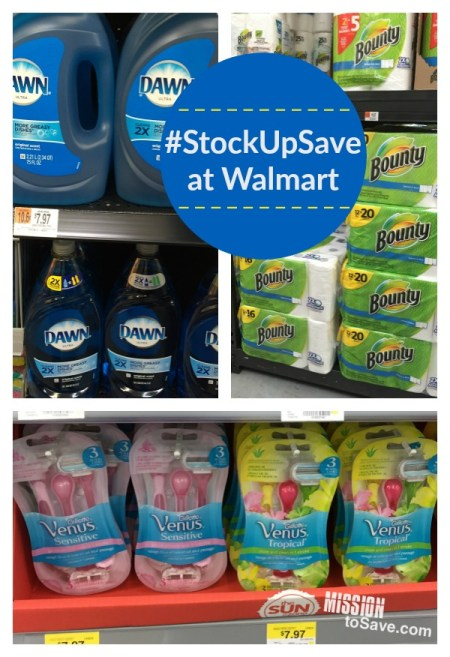 #StockUpSave at Walmart P&G products