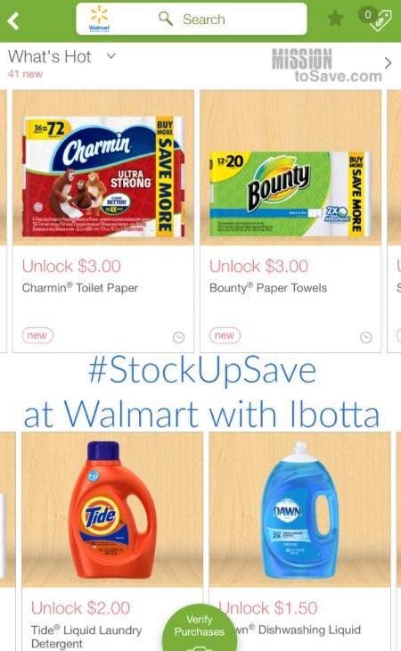 #StockUpSave at Walmart with Ibotta rebates