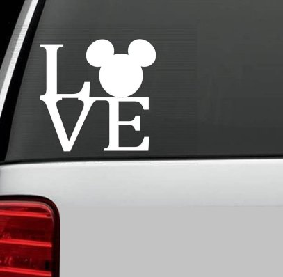 love mickey mouse decal