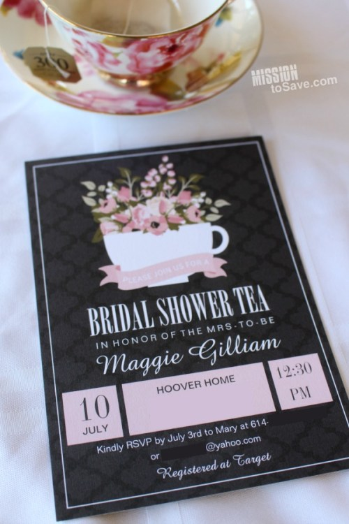 Make this Custom Bridal Invitations for a Bridal Shower Tea on Zazzle.