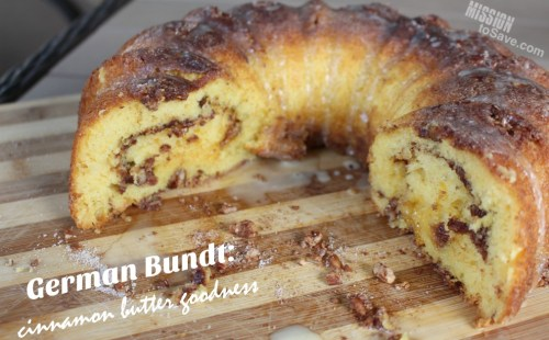 Make a German Bundt Cake Recipe for dessert! This cinnamon butter cake recipe is also amazing for a breakfast treat.