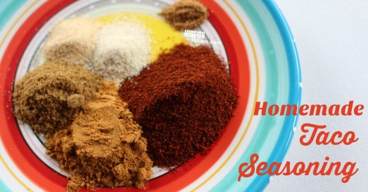 piles of seasonings on a plate for taco seasoning mix
