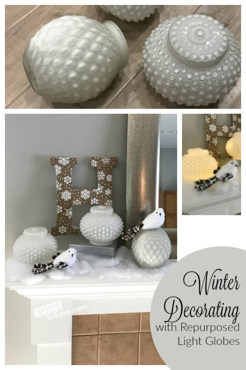 These repurposed light globes make the perfect inspiration for a winter decorating idea. It's just the right seasonal decor for when Christmas decorations come down.