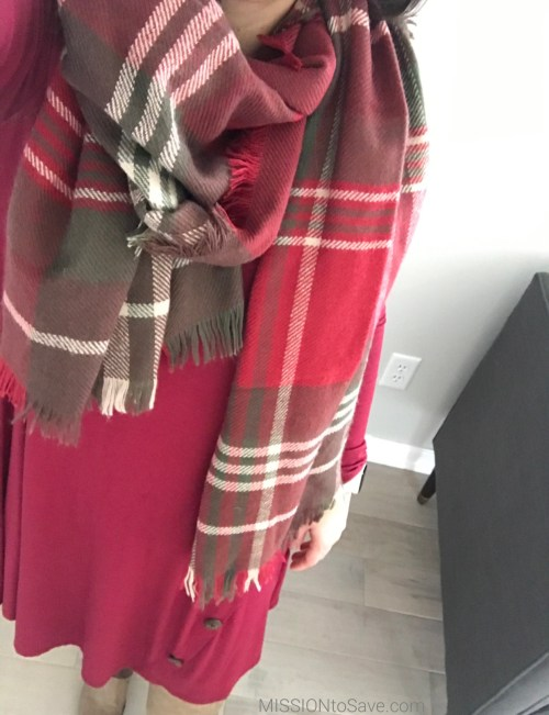 swing dress + blanket scarves = comfy fashion!