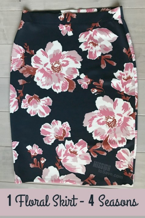 Floral skirts are a hot new fashion trend. See how to style a floral skirt for all 4 seasons!