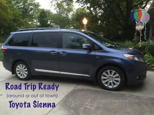 Toyota Sienna is the perfect mini van for road trips. Whether running the kids around town or headed out of town, the Sienna has all the perks a busy mom needs.