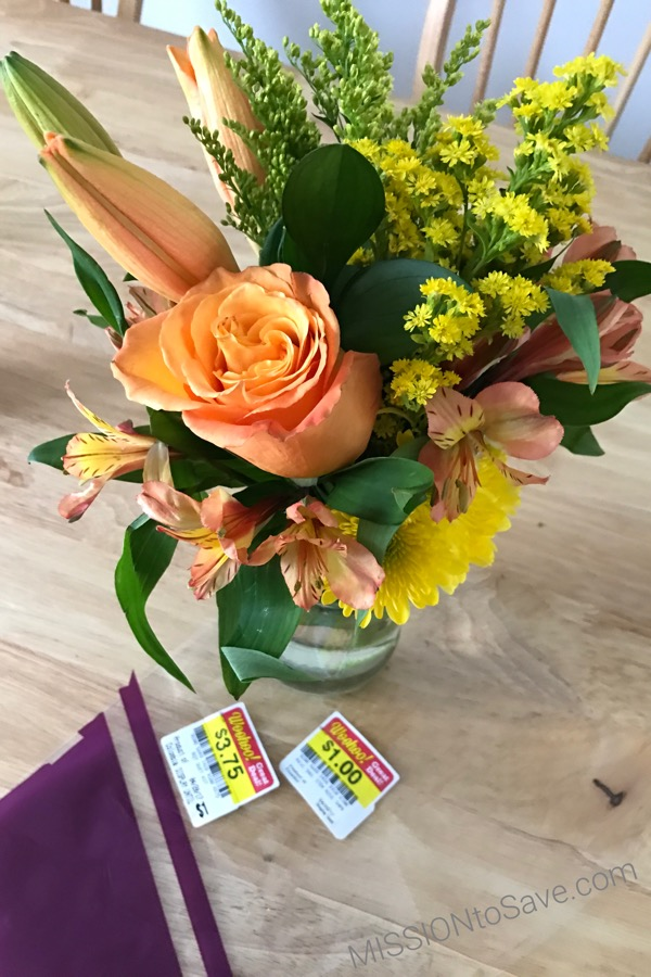 Give this this budget bouquet with a little bling too. Add an inspirational tribe bracelet to a repurposed jar vase for a little extra surprise. This DIY gift would make a great Mother's Day gift or even teacher appreciation gift.