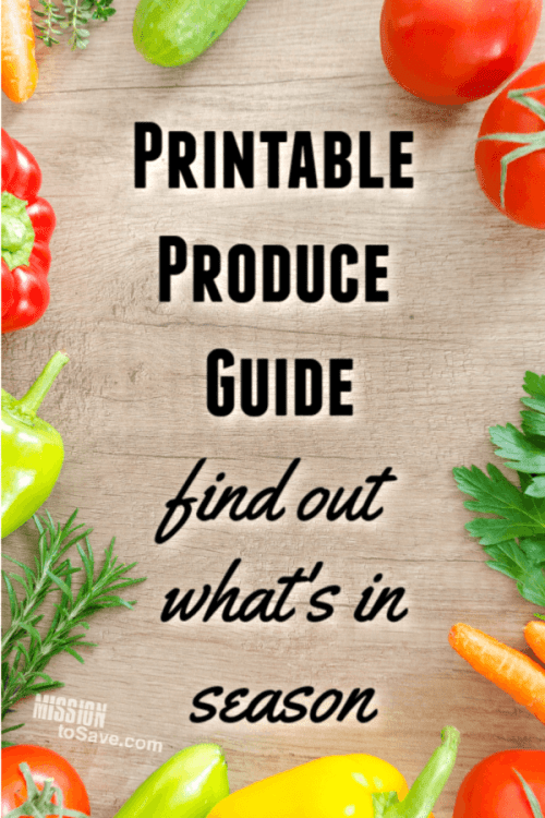 printable produce guide