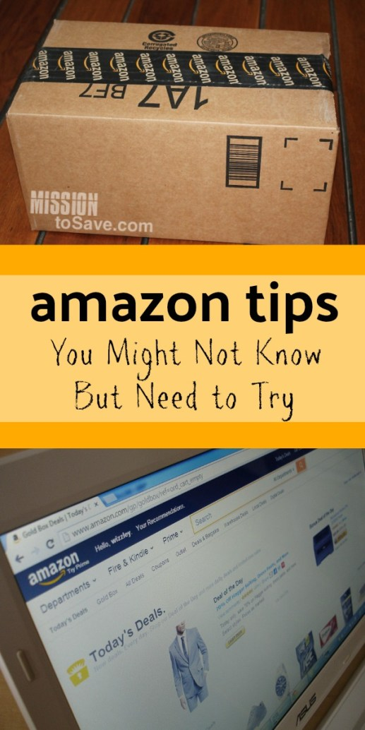 Amazon box and Amazon home screen