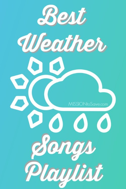 weather icon with song playlist text