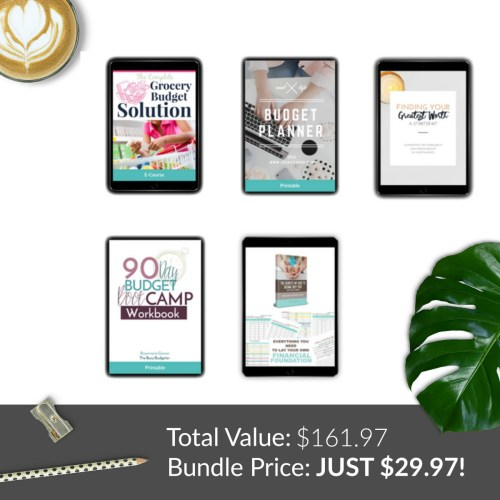 Resources on Taking Control Of Your Finances in the Ultimate Homemakers Bundle 2018