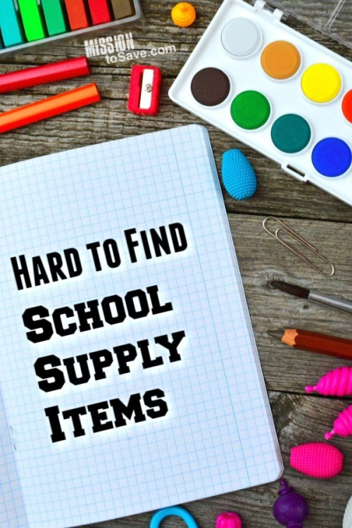 hard to find school supply items