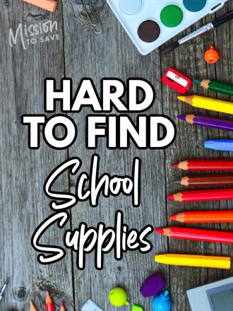 school supplies on lists that are hard to find