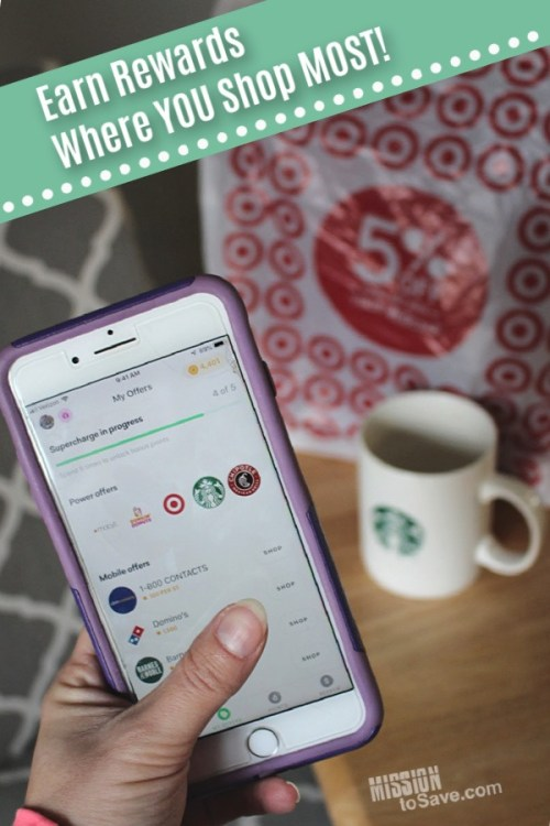 Drop App on iphone earns reward points