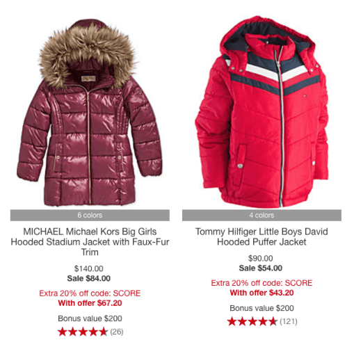 aab871925 Macy s Kids Coat Sale + Stackable Rebate from Savings.com - Mission ...