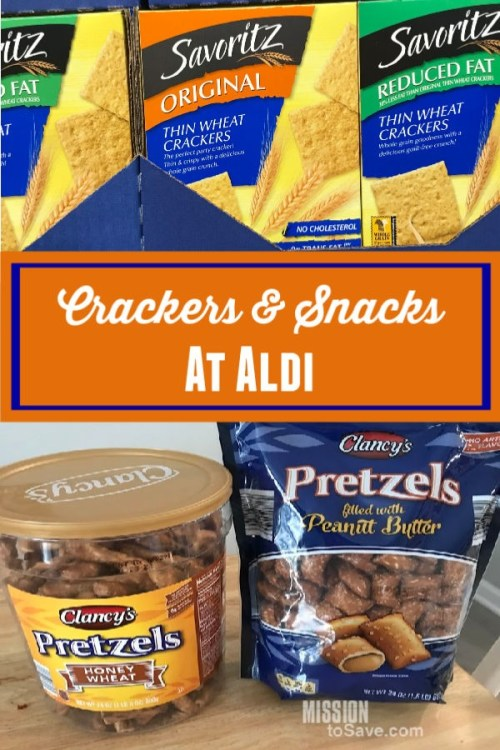 crackers and snacks at aldi