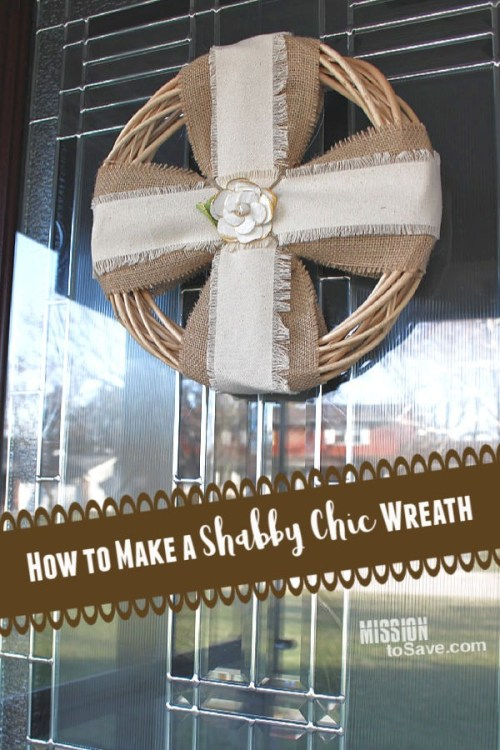 How to Make a Wreath for Shabby Chic Home Decor
