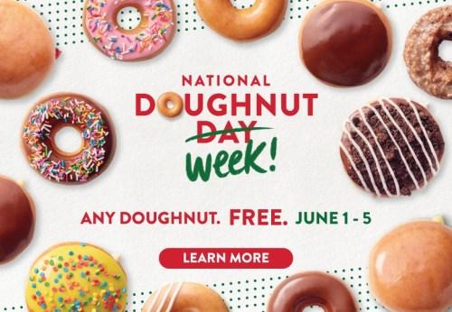 krispy kreme national doughnut week
