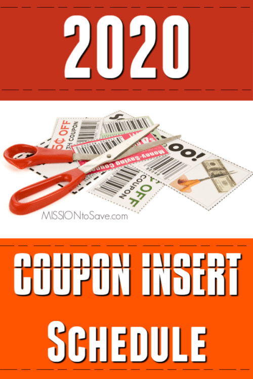 2020 Coupon Insert Schedule Savings In Your Sunday Newspaper Each Week Mission To Save