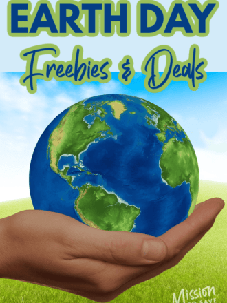 earth in hand text earth day freebies