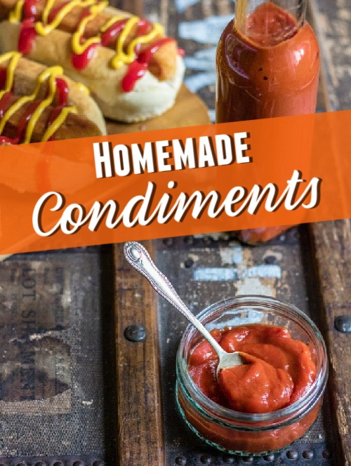 homemade ketchup in a dish and on hot dogs pic credit Veggie Desserts