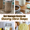 jars filled with homemade recipes to make not buy