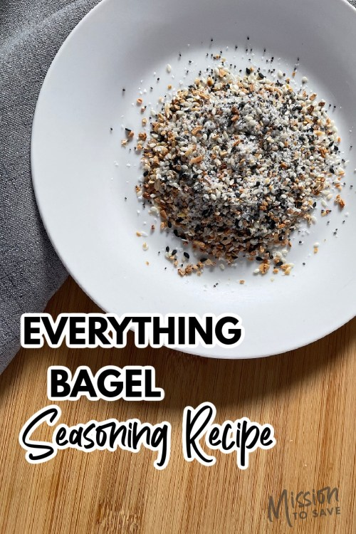 spices for everything bagel seasoning recipe on plate