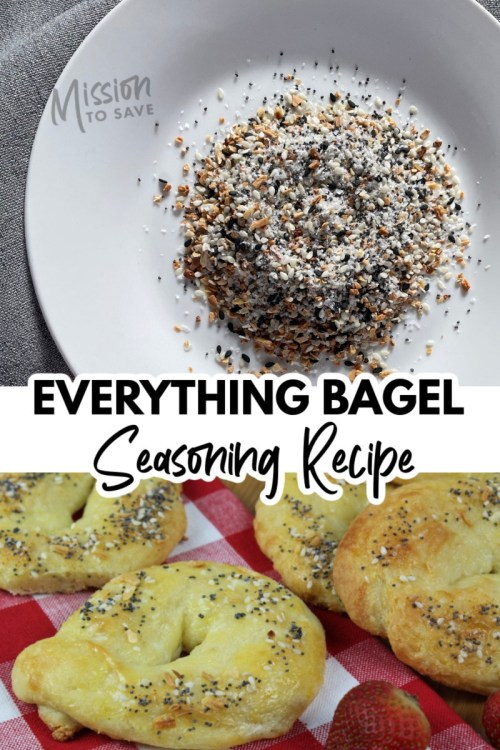 EBS spices on plate and on everything bagel