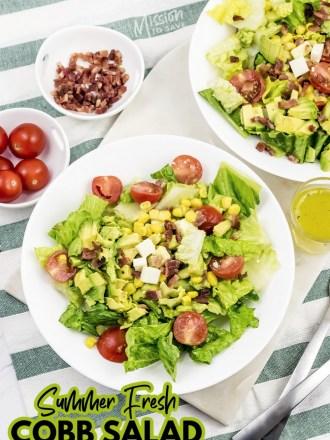 ingredients to make summer cobb salad