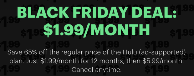 hulu sale $1.99 a month