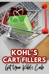 online shopping cart kohls cash