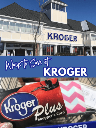 Kroger Building and Plus Card text ways to save at kroger