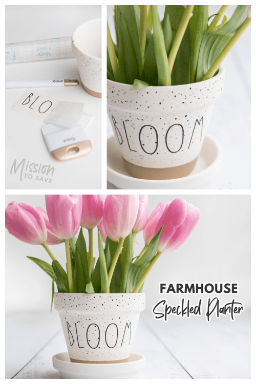 how to make a farmhouse style speckled planter