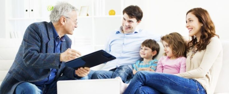 Family with Financial Advisor