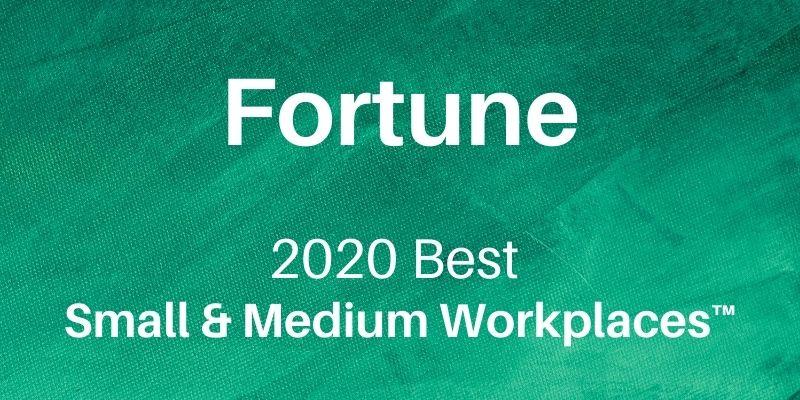 Fortune 2020 Best Small & Medium Workplaces HERO